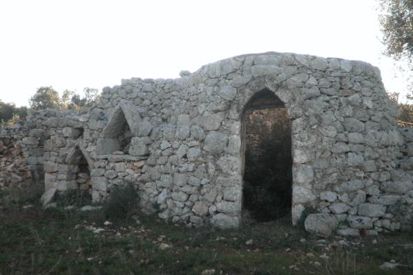 Trullo in pietra con progetto di ampliamento e con ulivi in vendita vicino a Carovigno