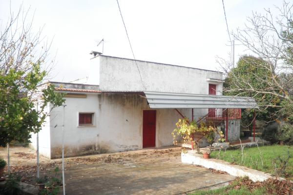 Casa di campagna con particolare tetto in pietra e ulivi in vendita vicino ad Ostuni